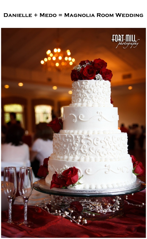 GORGEOUS Wedding Cake by La Patisserie at Mooresville