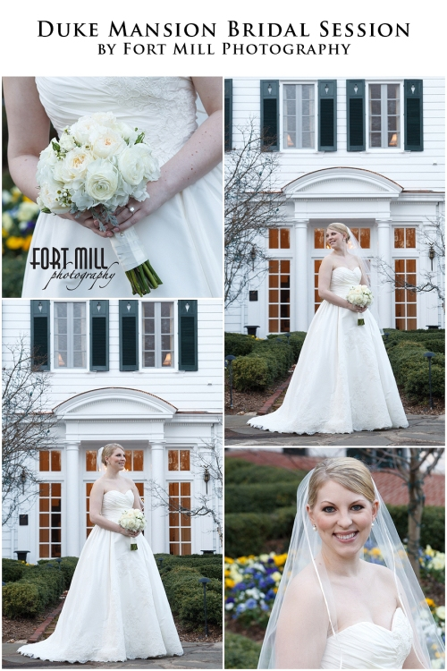 March Bridal Portrait Session at The Duke Mansion © 2013 Fort Mill Photography