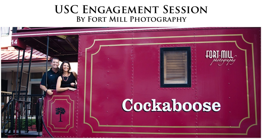 USC Engagement Session on the Cockaboose