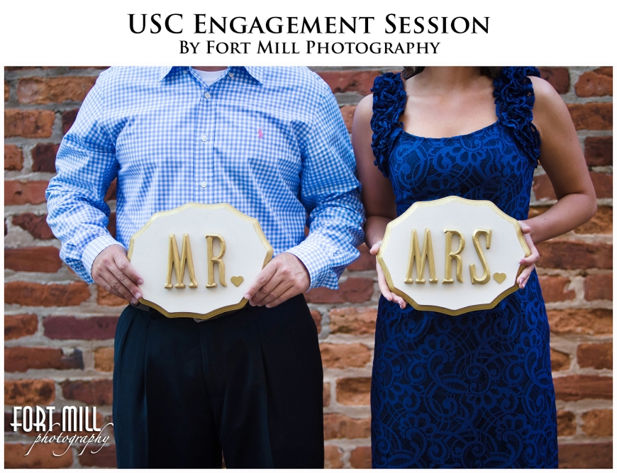 Mr. and Mrs. Engagement Signage