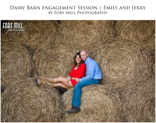 Couple on Hay Bales