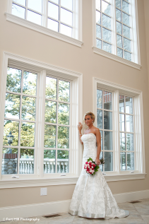 Bridal in window