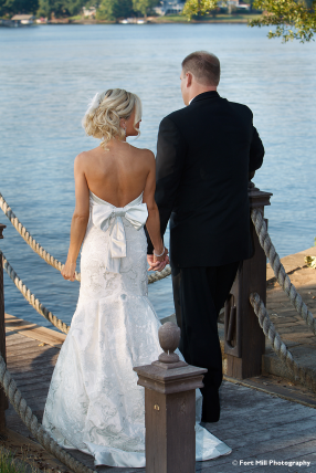 Couple on a pier