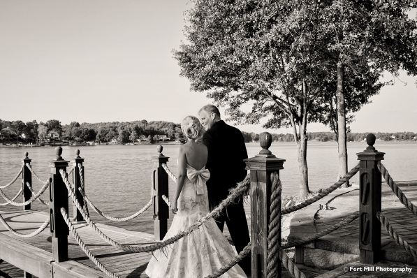 Wedding Couple on Water