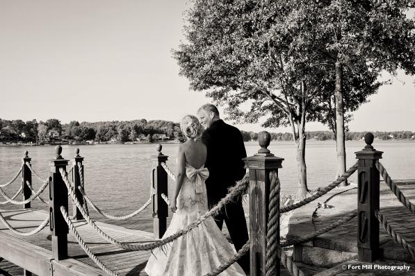 Wedding Couple on Water