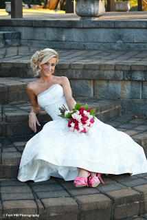 Bridal on Stairs