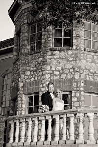 Couple on stonework