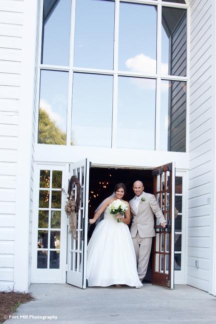 Wedding Exit thropugh doors