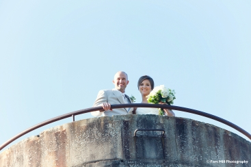 Wedding Couple on Silo