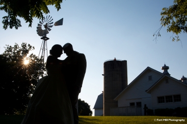 Wedding Couple at The Dairy Barn