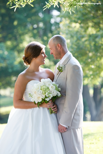 Rim Lit Wedding Photo