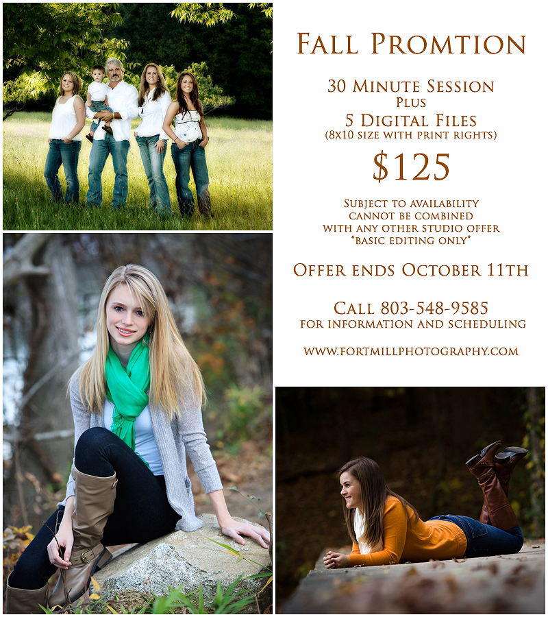 Fall Photography Special
