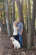 Couple with Labrador
