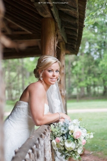 Bride at Cabin