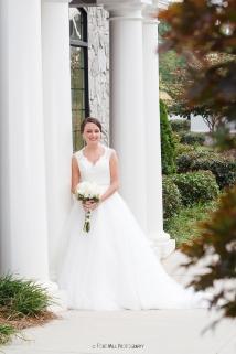 Bride with columns