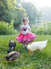 Ducks and Toddler