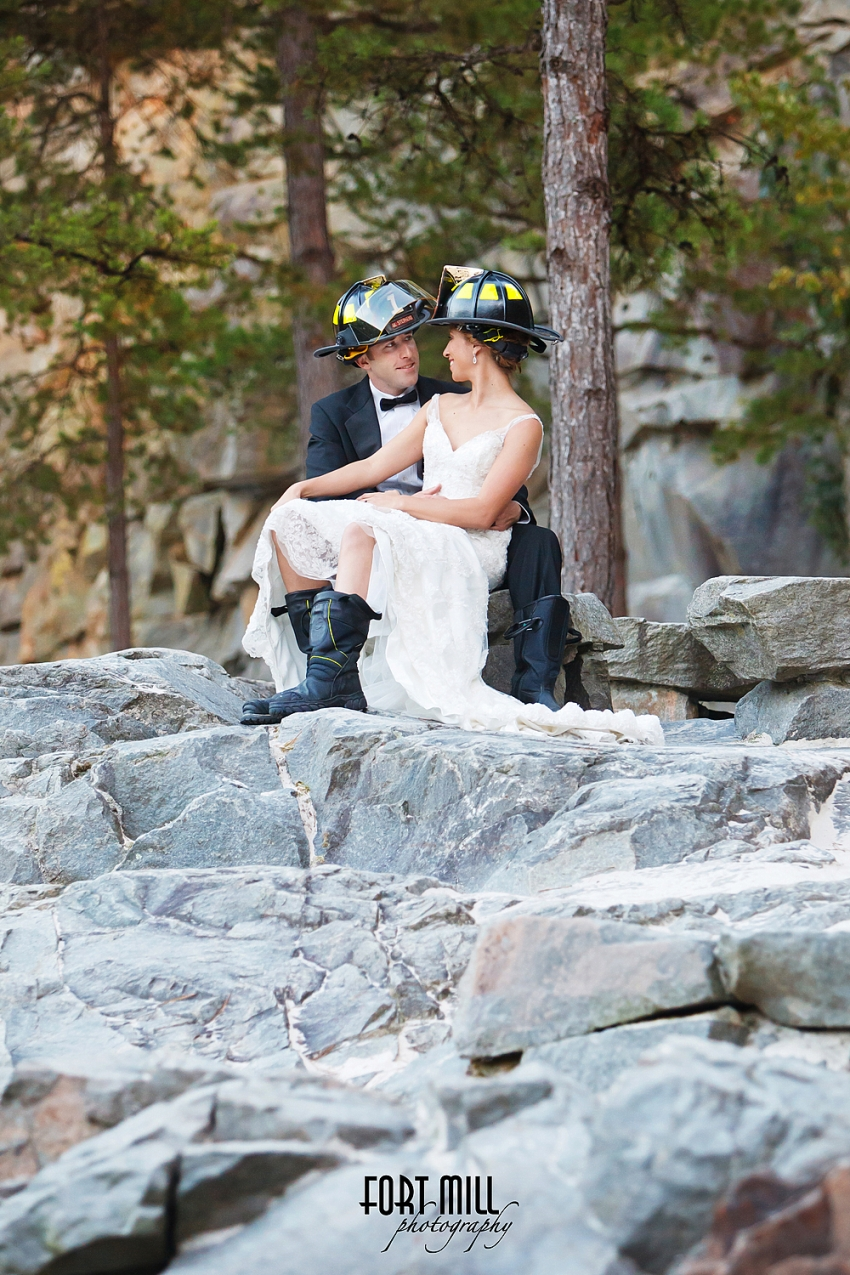 Firefighter Elopement © Fort Mill Photography